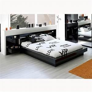 Tete De Lit Noire 140 : tete de lit noire 140 ~ Teatrodelosmanantiales.com Idées de Décoration