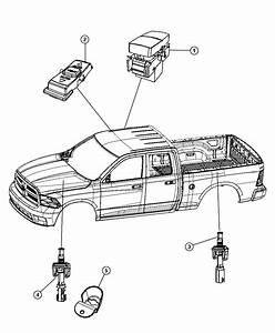 2010 Dodge Ram 1500 Bracket  Hood Switch   Front End Parts