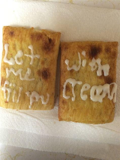 Toaster Strudel Meme - note to self never let boyfriend decorate toaster strudels