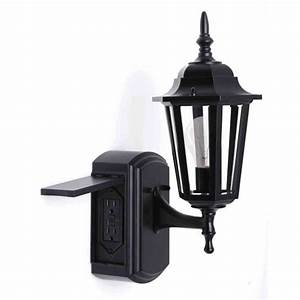 Outdoot light outdoor with electrical outlet