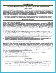 cool credit analyst resume exle 28 images cover letter