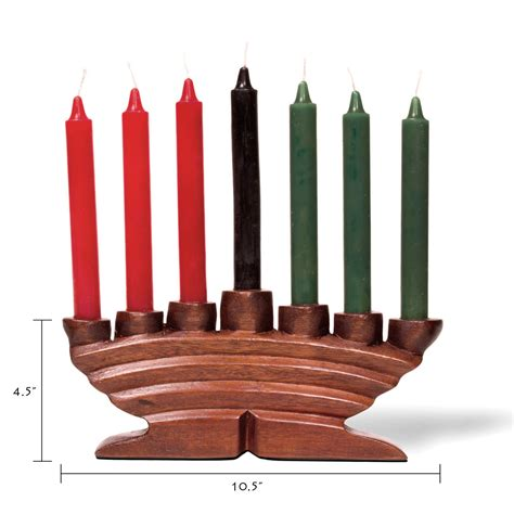 kwanzaa candle holder carved wood kinara candle holder style c