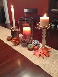Two, It, Yourself, Fall, Table, Decorations, On, A, Burlap, Runner