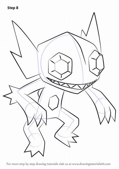 Pokemon Sableye Draw Drawing Step Tutorials Learn
