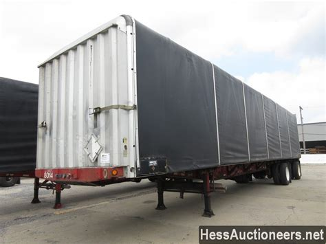 used 2000 fontaine conestoga curtain side trailer for sale