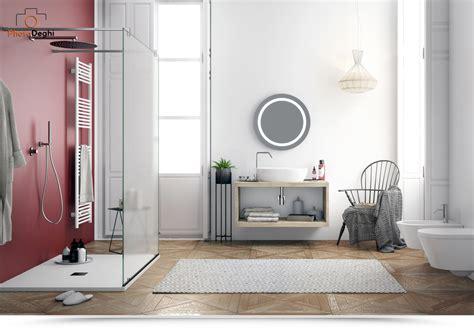legno per mensole arredo bagno moderno mobile minimal con mensole in legno