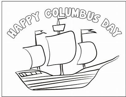 Columbus Coloring Pages Crafts Sheets Printable Preschool