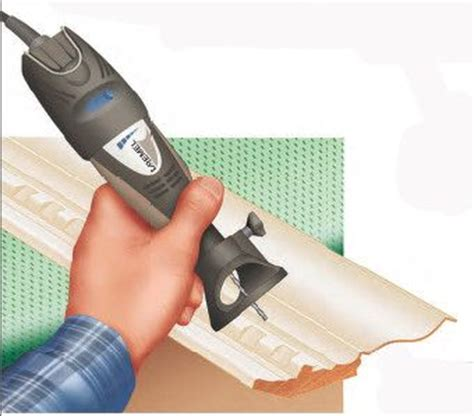 2 crown molding cutting crown molding waste with a rotary tool instead of