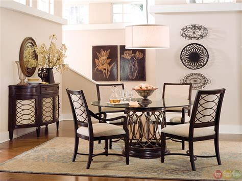 uttermost oval mirror intrigue transitional glass top table chairs