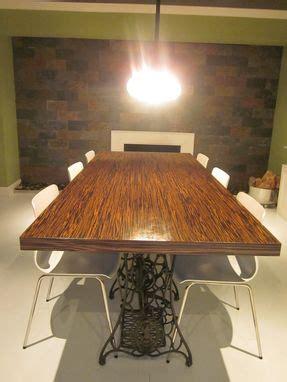 custom  macassar ebony wood slab dining table