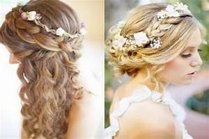 Chignon Cheveux Mi Long : coiffure mariage cheveux longs chignon ~ Melissatoandfro.com Idées de Décoration
