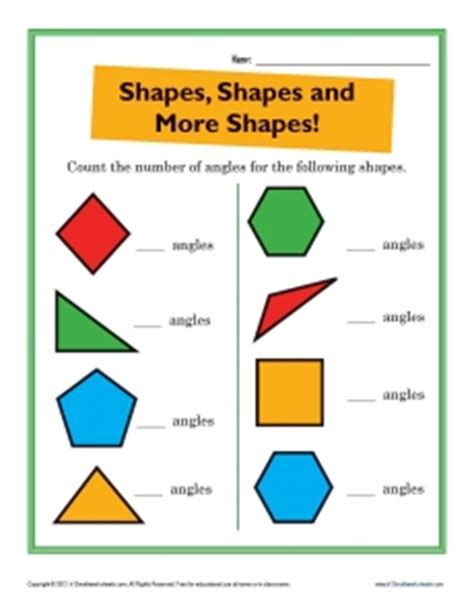 math worksheets geometric figures solid 3d shapes