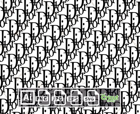 dior monogram inspired logo vector design print  cut  quality vector files bundle ai