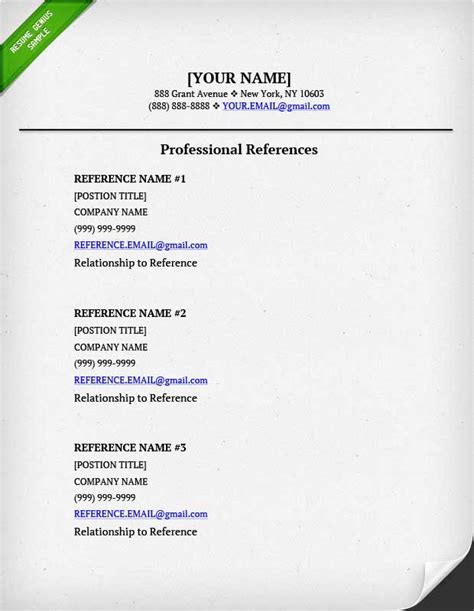 References In Resume by References On A Resume Resume Genius