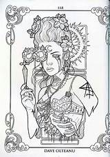 Coloring Pages Tattoo Steampunk Adult Printable Blank Fairy Mermaid Books Pain Grown Discover Flash sketch template