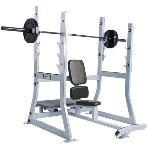 Hammer Strength Olympic Military Bench  Life Fitness