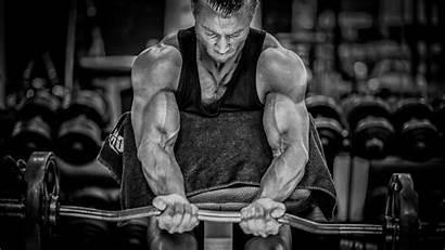 Bodybuilding Bodybuilder Gym Fitness Monochrome Muscle