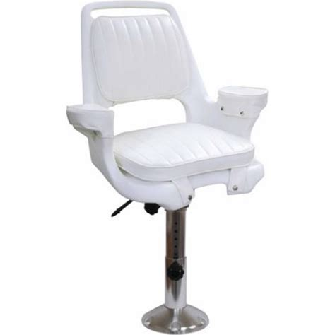 wise captain s chair package with chair cushions 12 quot to 18 quot adjustable pedestal and seat slide