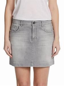 Grey Denim Skirt - Redskirtz