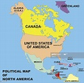 Political Map Of North America In Vector Format High-Res ...