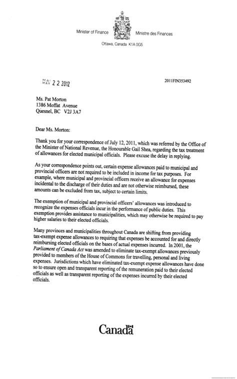 letter  canada revenue agency external