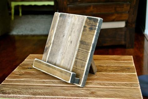 wood tablet stand  cookbook stand   kitchen  office