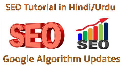 SEO Tutorial in Hindi/Urdu Google Algorithm Updates in