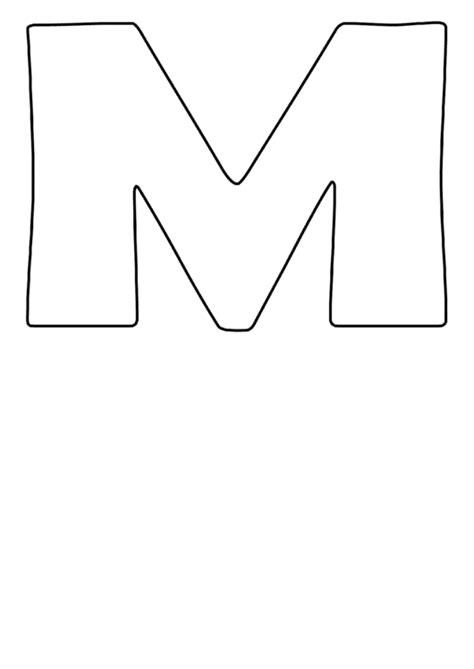 big letter m letter m template printable pdf 20607 | page 1 thumb big