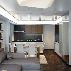 Moderne Wandfarben Für Wohnzimmer : einrichtungsideen f r wohnzimmer mit offener k che ~ Sanjose-hotels-ca.com Haus und Dekorationen