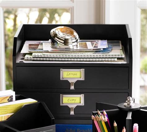 pottery barn desk organizer bedford 2 drawer paper organizer traditional desk