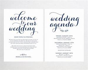navy blue wedding welcome bag note welcome bag letter With wedding welcome bag letter