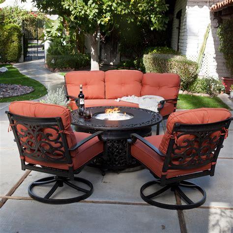patio pit set belham living san miguel cast aluminum sofa pit chat