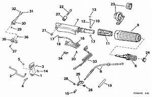 Johnson Steering  U0026 Shift Handle Parts For 1997 15hp