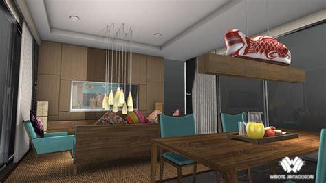 modern zen style interior design project  behance