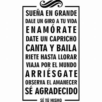 Citation Espagnol Tu Vida Grande Dale Giro