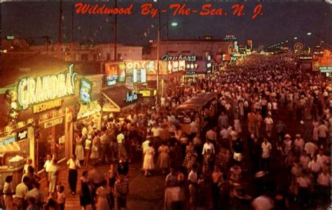 boardwalk  night wildwood nj