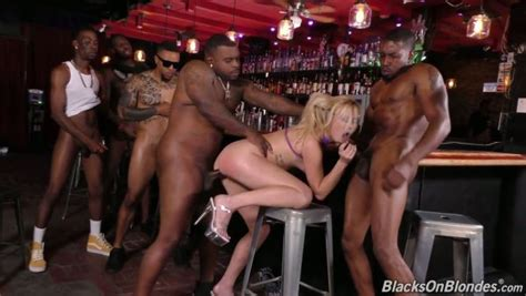 Bar Seems A Nice Place To Have Interracial Gangbang Sex