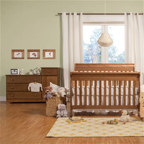 davinci 2 nursery set kalani 4 in 1 convertible crib and combo dresser in chestnut free