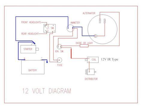 wiring diagram for key start 12 volt alternator