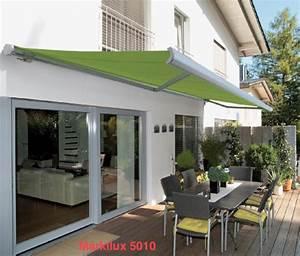 sonnenschutz fur balkon dachterrasse oder loggia With markise balkon mit glööckler tapete grün