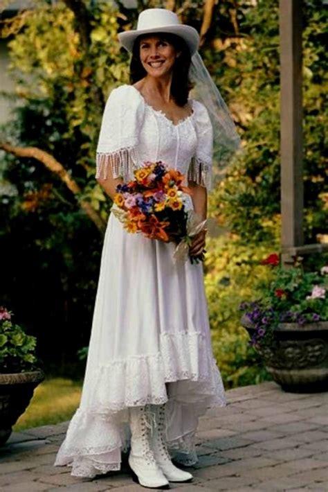 western style wedding dress