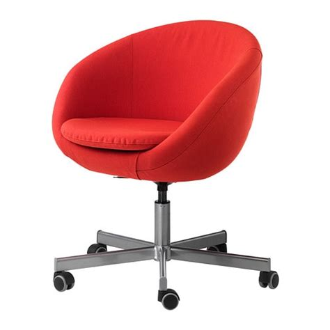 chaise de bureau grise skruvsta chaise pivotante vissle orange ikea