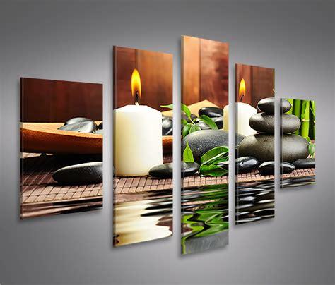 bilder auf leinwand bilder auf leinwand zen stones steine feng shui mf 5 teilig kun kaufen