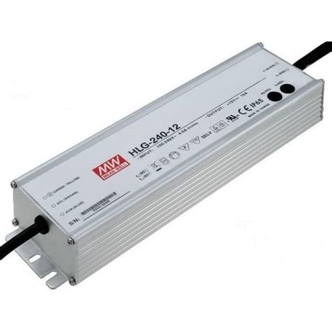 Zasilacz LED MEAN WELL 192W HLG-240-12 12V DC WODOODPORNY IP65