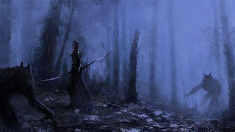 Witcher 3 Desktop Background Full Hd Wallpaper Vire Werewolf Forest Mist Desktop Backgrounds Hd 1080p