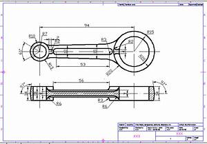 Techdrawing  Drawing Connecting Rod