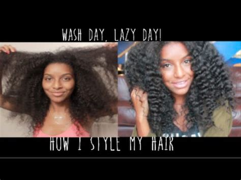 How To Style Hair After Wash Day  Natural Hair Youtube