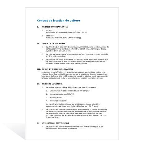mod 232 le de contrat de location d une voiture - Modele Contrat De Location Voiture