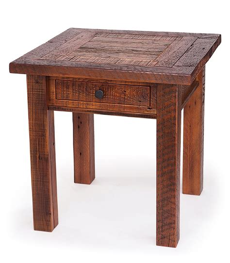 tall bedroom end tables reclaimed wood end table with drawer this reclaimed wood