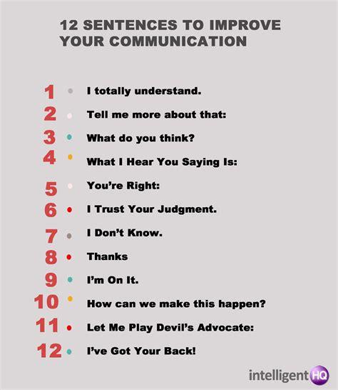 12 sentences to improve your communication
